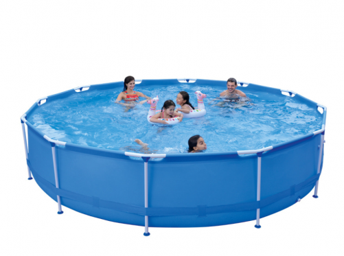 2020 New Easy Set Up Steel Pro Frame Swimming Pool Set Blue