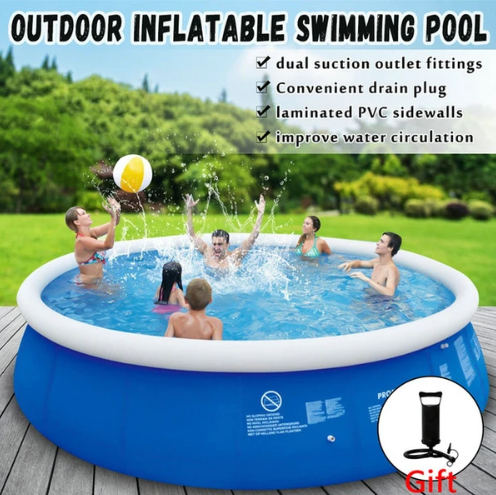 THE ORIGINAL EASY SET POOL – INFLATABLE RING POOL