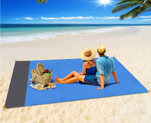 Pocket Picnic Blanket Waterproof Beach Mat Sand Free Blanket Portable Beach Towel Camping Outdoor Picnic Mat