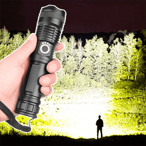 Power Flash - 90000 LUMENS XHP50.2 Most Powerful Flashlight USB Zoom Led Torch