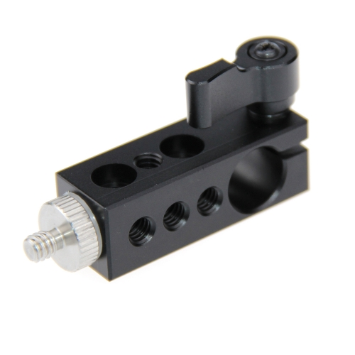 "1/4"" Thread Mount to 15mm Single Rod Clamp fr Rail System 15mm Rod DSLR Camera"
