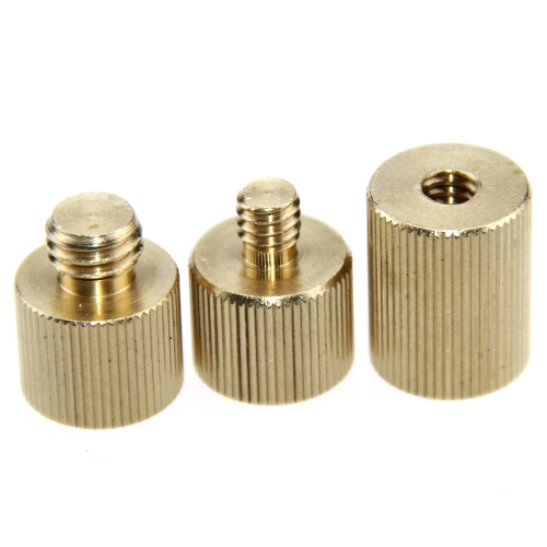 "CAMVATE 3/8""-16 Female /  Male & 1/4""-20 Female / Male Thread Screw Reducer"