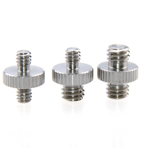 "Camvate 1/4""Male to 1/4""Male & 1/4""Male to 3/8"" Male & 3/8"" Male to 3/8"" Male Thread Screw Adapter for Camera Tripod"