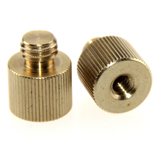 "CAMVATE 2 Pack 1/4""-20 Female Threaded Adapter to 3/8""-16 Male Threaded Post"