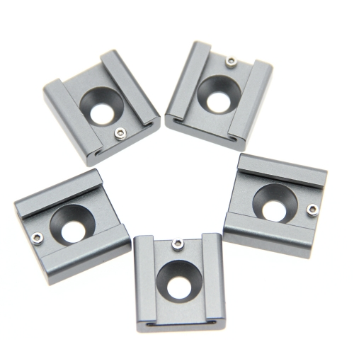 "5pcs Cold Shoe Mount Adapter Bracket Hotshoe with 1/4"" Mounting Hole"