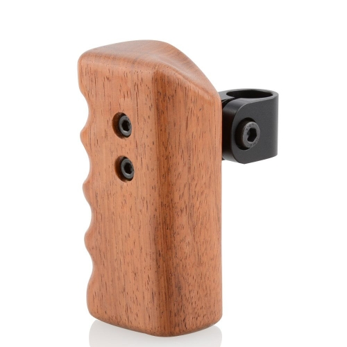 CAMVATE Wood Wooden Handle Grip Mount for DSLR Video Stablizer Camera Cage 15mm Rod