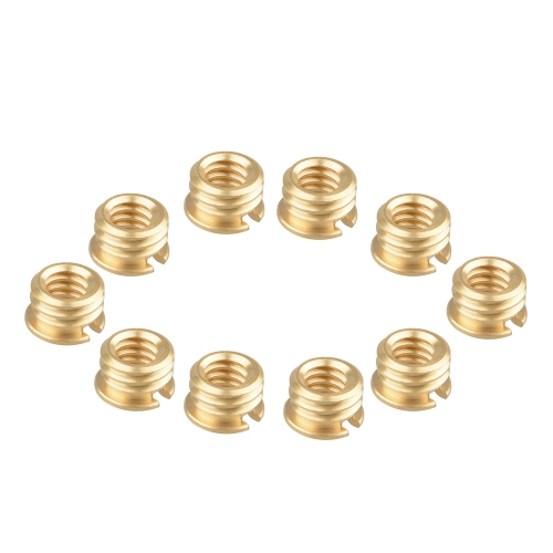 "CAMVATE 1/4""-20 Female to 3/8""-16 Male Convert Screw Adapter (pack of 10)"