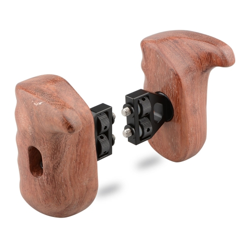 CAMVATE Wood Wooden Handgrip (left & right hand) for DSLR Camera Cage (Brazilian Wood)