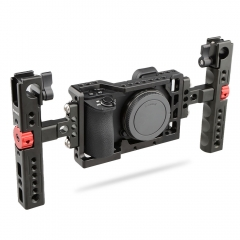 CAMVATE Handheld Camera Cage with 2 Cheese Handles for Sony A6500