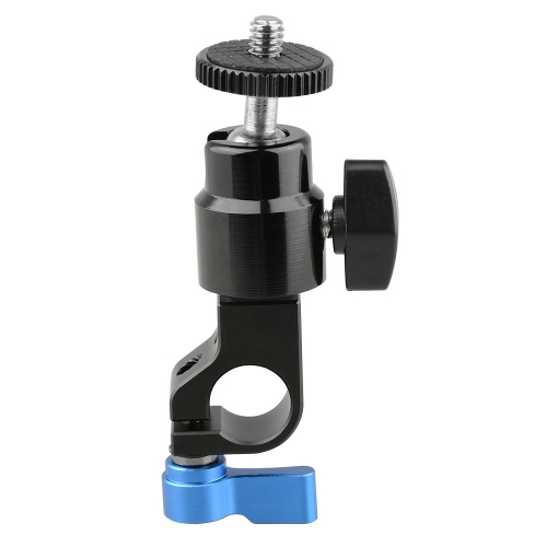 "CAMVATE 15mm Rod Clamp with 1/4"" Screw Ball Head Mount"