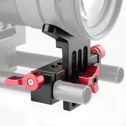 CAMVATE Lens Support Mount Rod Clamp Holder Bracket for 15mm Rod System Follow Focus