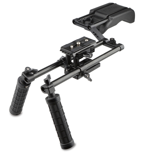 CAMVATE Pro DSLR Shoulder Mount Support Rig Kit Handgrip fr Canon/Nikon/Sony and other