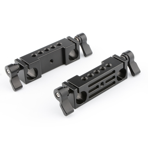 CAMVATE Rod Clamp 15mm Railblock (Black, 2-Pack)