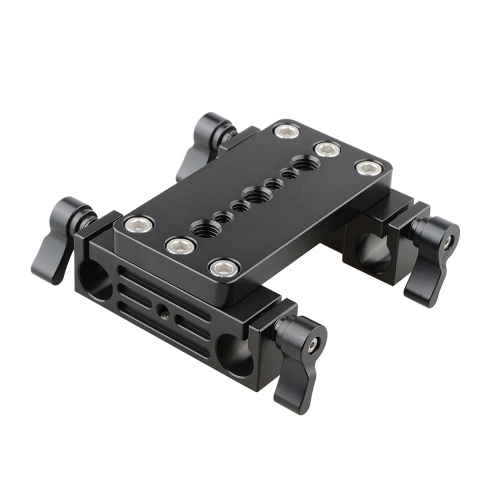CAMVATE Tripod Mount Base Plate w/ 2 15mm railblocks fr DSLR Shoulder Mount Rig