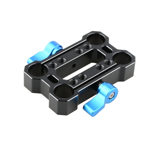 CAMVATE Height Riser Offset Railblock 15mm Rod Clamp (Blue Thumbscrew)
