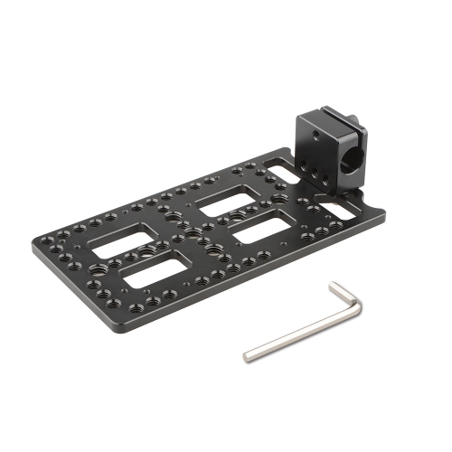 CAMVATE Multi-functional Battery Plate With Rod Clamp For Monitor Cage