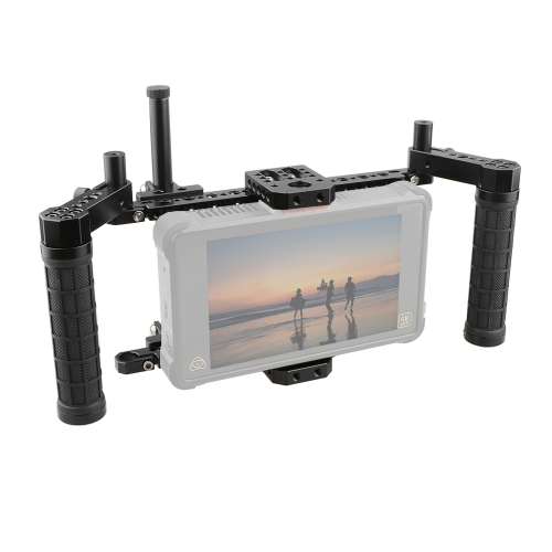 CAMVATE Monitor Cage Kit With Adjustable Handle Grips