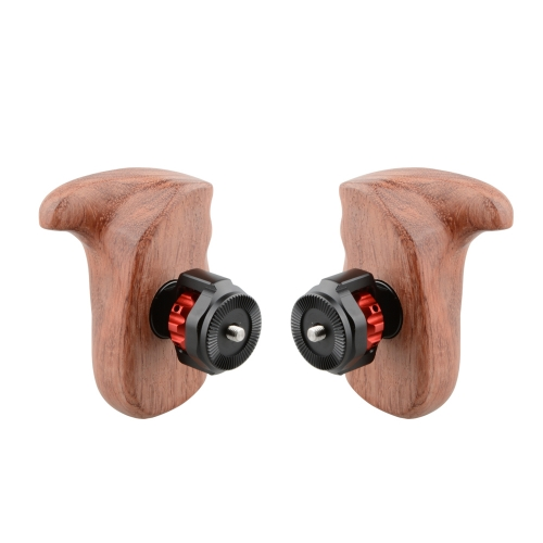 CAMVATE Wooden Handle Grip With M6 ARRI Rosette (Left & Right)
