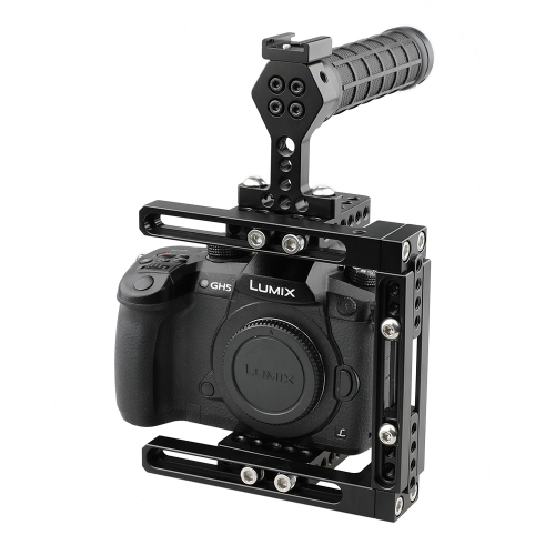 CAMVATE Dual-use Adjustable Cage with Top Handle (Rubber)
