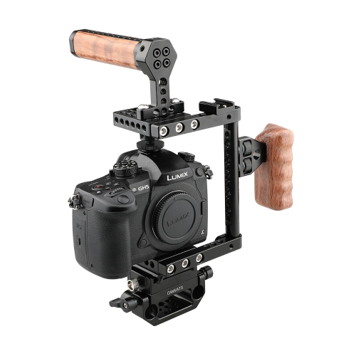 CAMVATE Quick Release Cage Kit (Left-sided Wooden Handle)