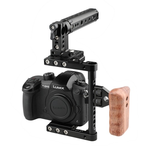 CAMVATE Camera Cage Rig w/Top Handle Tripod Mount Plate for Canon Nikon Sony Panasonnic