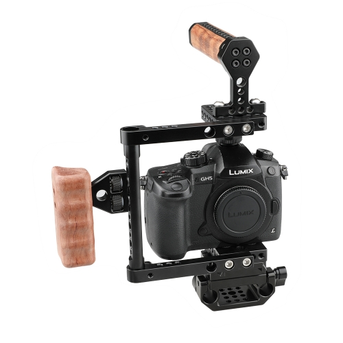 CAMVATE Quick Release Cage Kit (Right-sided Wooden Handle)