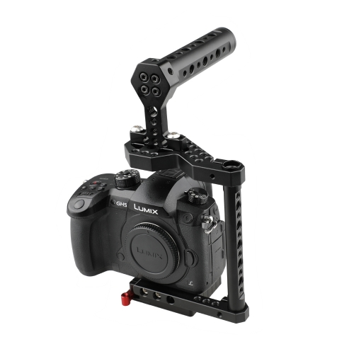 CAMVATE DSLR Camera Cage with Top Handle for Cameras  Fujifilm X-T2, DSLRs Canon EOS 650D, 550D, NIKON D330