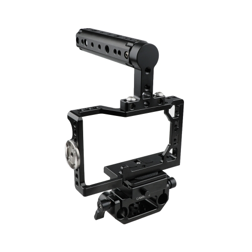 CAMVATE Camera Cage With ARCA QR Baseplate For Sony A6500