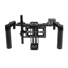 CAMVATE Director's Monitor Cage Kit with Mounting Plate (Adjustable)