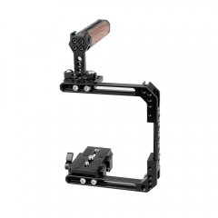 CAMVATE Standard Cage Kit Extendable For DSLR Cameras With QR Manfrotto Baseplate