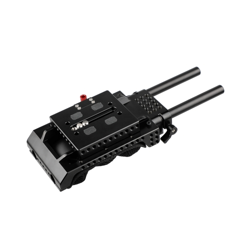 CAMVATE ARRI Dovetail QR Baseplate With 15mm Double-rod For Sony VCT-U14 Tripod Adapter