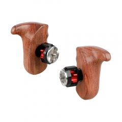 CAMVATE Wooden Handle Grip (left & right) with ARRI Rosette Mount