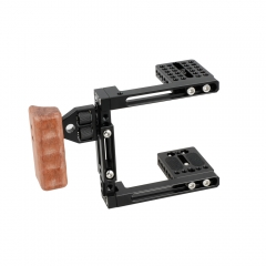 CAMVATE Dual-use Adjustable Cage with Wooden Handgrip