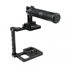 CAMVATE Half Cage With Rubber Top Handle And Shoe Mount For BMPCC 4K