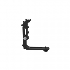 CAMVATE Handle Grip L Bracket With Shoe Mount For Monitors / Microphone / Light (Custom Made)