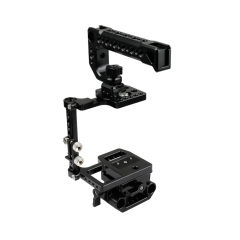 CAMVATE BMPCC 4K Camera Cage With Top Cheese Handle And ARCA QR Plate