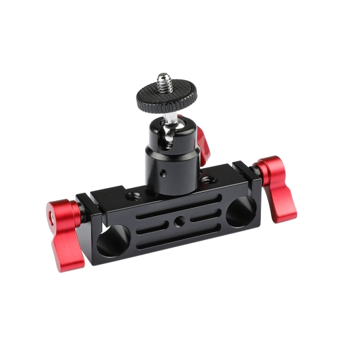 CAMVATE DSLR Rod Clamp Railblock w/ Ball Head Mount 1/4 fr 15mm Rod Support Rail System