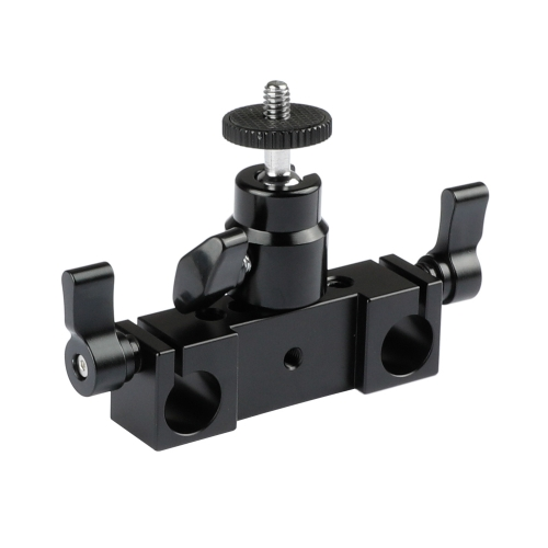 CAMVATE Rod Clamp 15mm Railblock+ 1/4 Hot Shoe Mount Mini Ball Head Flash Bracket Holder