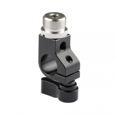CAMVATE 15mm Rod Clamp With Screw Connectors For Microphone