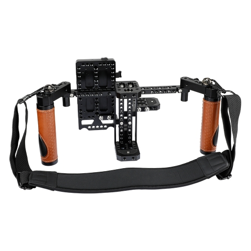 CAMVATE Camera Director's Monitor Cage Rig With Handle Grips & Neck Strap