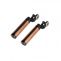 CAMVATE ARRI Rosette Wooden Handgrip For DSLR Shoulder Rig (A Pair)