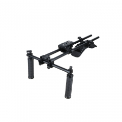 CAMVATE Dual Rubber Grip Handheld Shoulder Mount Rig