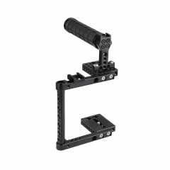 CAMVATE DSLR Camera Cage Rubber Top Handle & 2 Shoe Mounts For Canon 600D 70D 80D