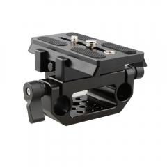 CAMVATE Manfrotto QR Baseplate Sliding Mount With 15mm Dual Rod Clamp