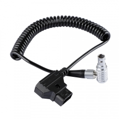 CAMVATE D-Tap To LEMO 2 Pin Right Angle Coiled Power Cable