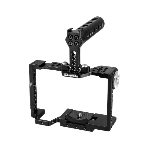 CAMVATE QR Camera Cage With Rosette Mount & Aluminum Handgrip For Sony a7 II, a7R II, a7S II, a7 III, a7R III, a9 Series