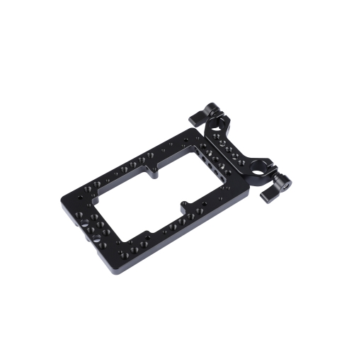 CAMVATE Annular Cheese Plate With 15mm Rods Bracket For DSLR Camera Battery System
