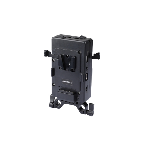 CAMVATE Double-side Battery Plate With 15mm Rod Clamp & Double Power Supply Splitter