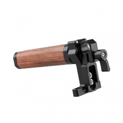 CAMVATE Camera Cage Top Handle Wooden Grip With 15mm Rod Clamp & Shoe Mount