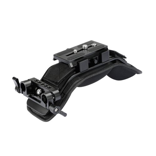 CAMVATE Shoulder Mount With Manfrotto Quick Release Plate Assembly & 15mm Dual Rod Clamp
